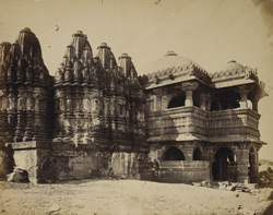 View of the great Jain Jagadevasah Temple from the north-east, Bhadresvar, Kachch
